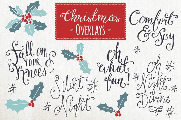 Christmas Overlays Set 6 Vector
