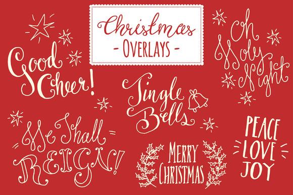 Christmas Overlays Set 5 Vector