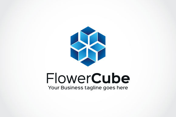 Flower Cube Logo Template