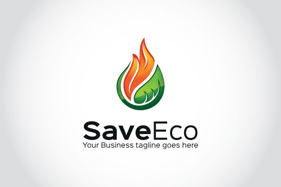 Save Eco Logo Template