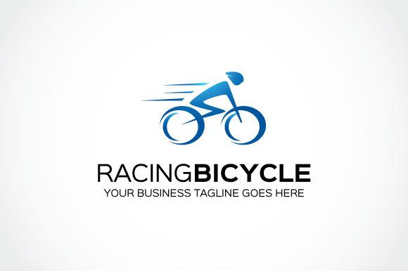 Racing Bicycle Logo Template