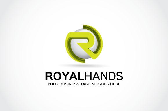 Royal Hands Logo Template