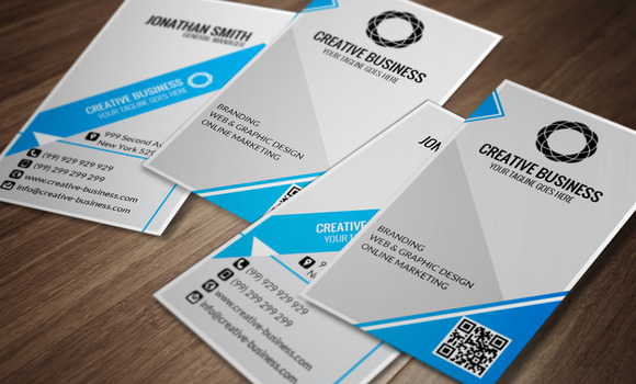 Modern Corporate Business Card CM013