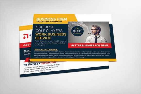 Business Company Postcard Template