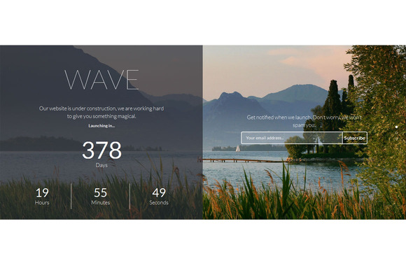 Wave Multiscroll Coming Soon Theme