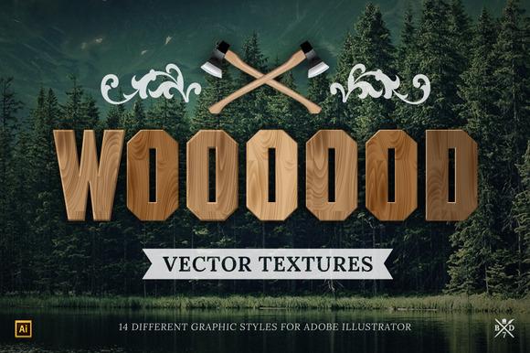 14 Wood Vector Textures