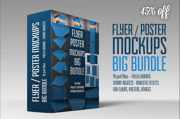 Flyer Poster Mockups Big Bundle