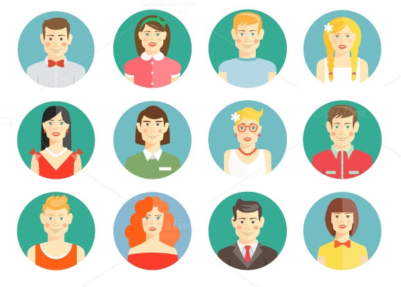 Diverse People Avatar Icons