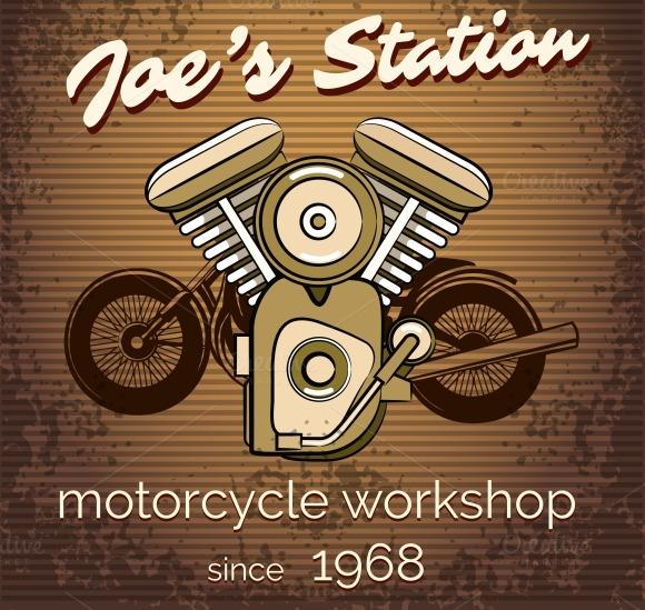 Motorcycle Repair Shop Poster