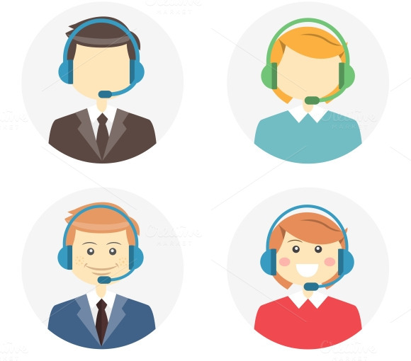 Call Center Operator Icons