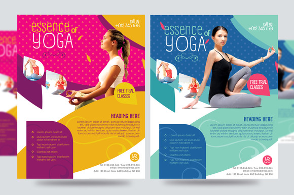 Yoga Flyer Fitness Flyer V1