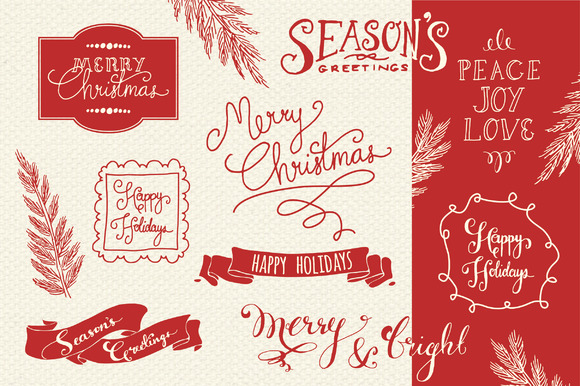 Christmas Overlays Set 2 Vector