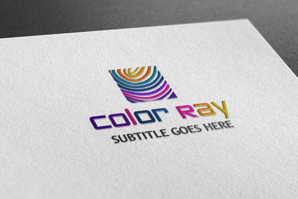 Color Ray Style Logo