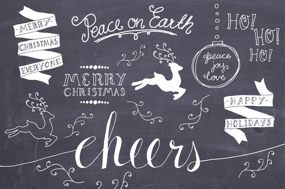 Christmas Overlays Set 3 Vector
