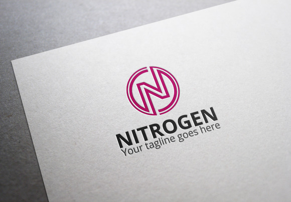 Nitrogen N Letter Logo