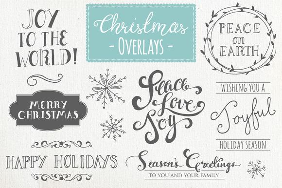 Christmas Overlays Set 1 Vector