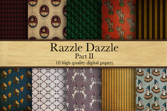 Razzle Dazzle Part II Digital Papers