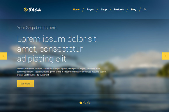 Saga Multipurpose HTML5 CSS3 LESS