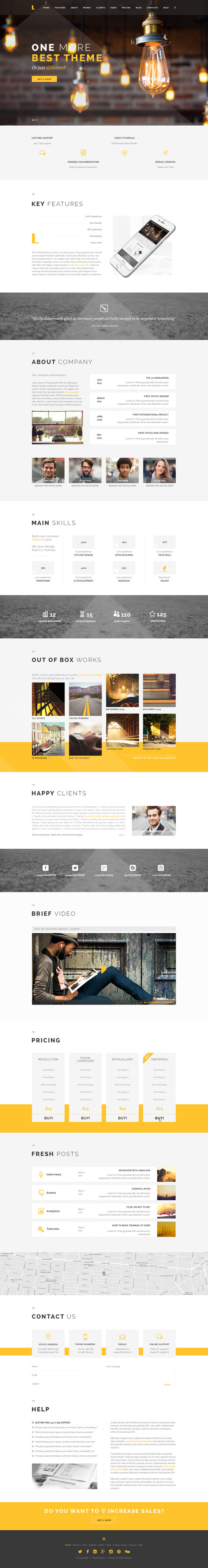 L Multpurpose OnePage PSD Template