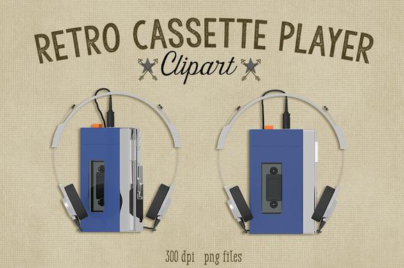 Retro Cassette Player Clipart