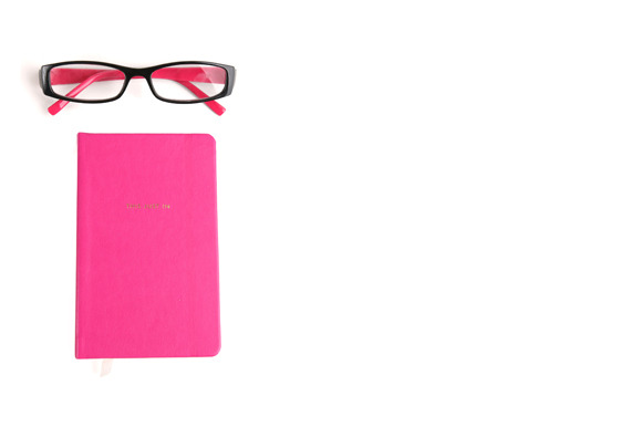 Styled Stock Pink Glasses Notebook