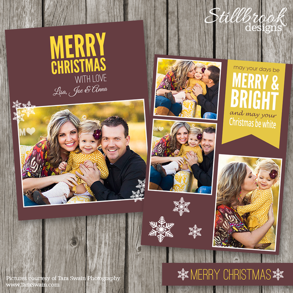 Christmas Card Template CC14