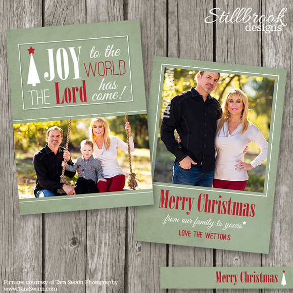 Christian Christmas Card Template