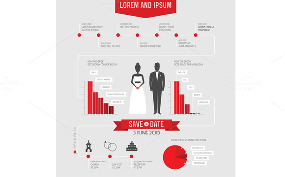 Infographics Wedding Invitation