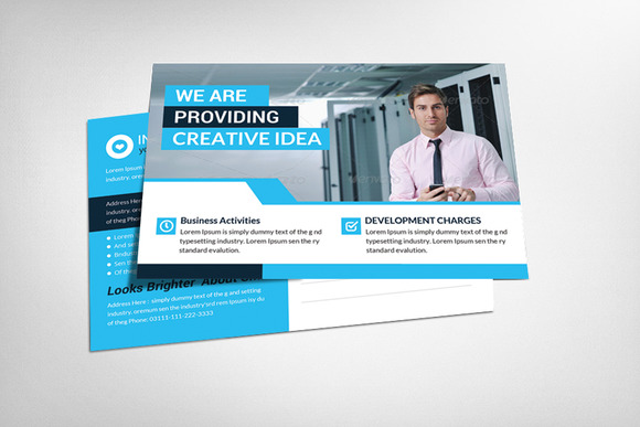 Internet Service Postcard Template