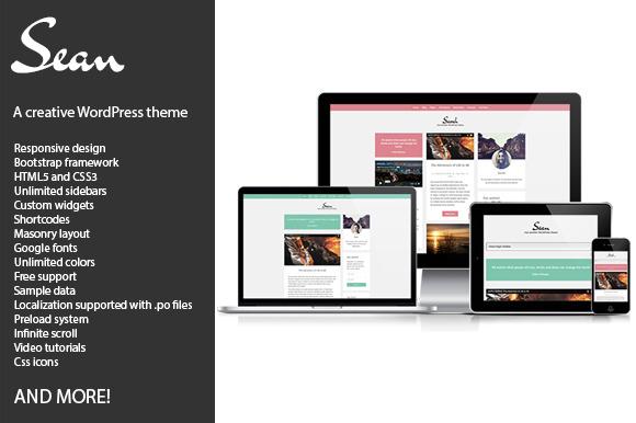 Sean Creative WordPress Theme