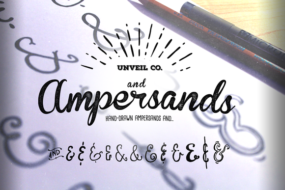 Hand-Drawn Ampersands