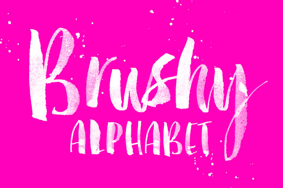 Brushy Alphabet