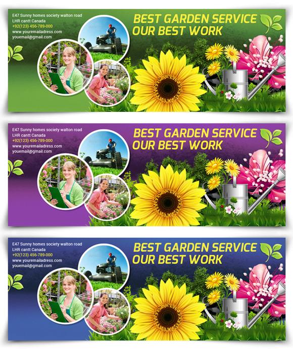 Garden Service Facebook Timeline