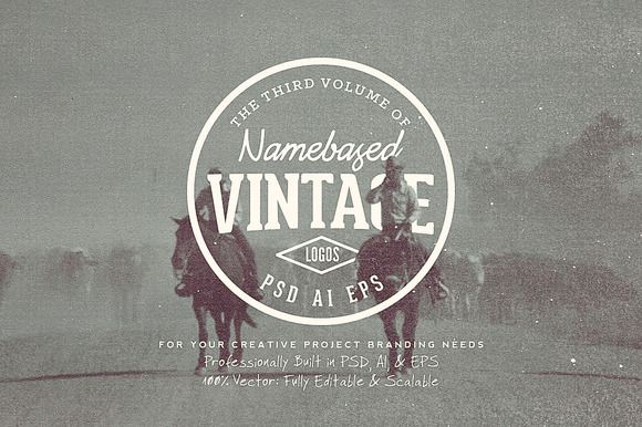 13 Name Based Vintage Logos Volume 3