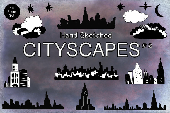 Handsketched Cityscape Collection #2