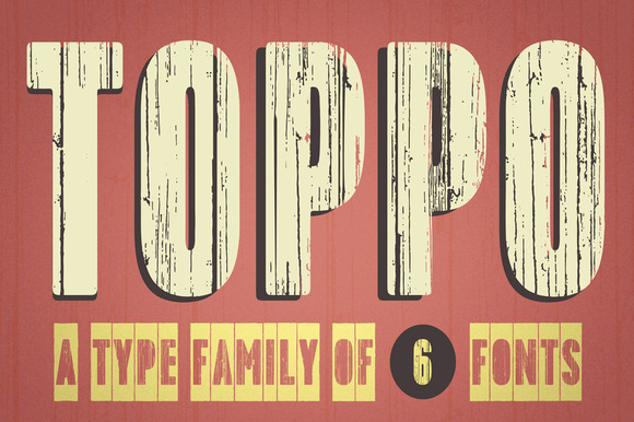 Toppo Family Fonts 50% Off