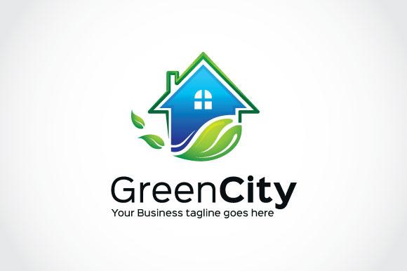 Green City Logo Template