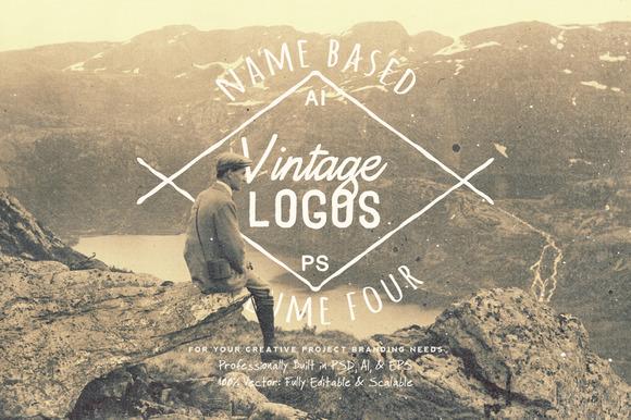 13 Name Based Vintage Logos Volume 4