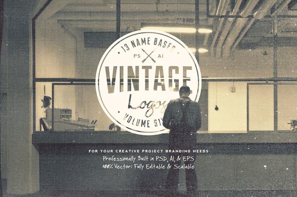 13 Name Based Vintage Logos Volume 6