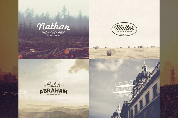 13 Name Based Vintage Logos Volume 2