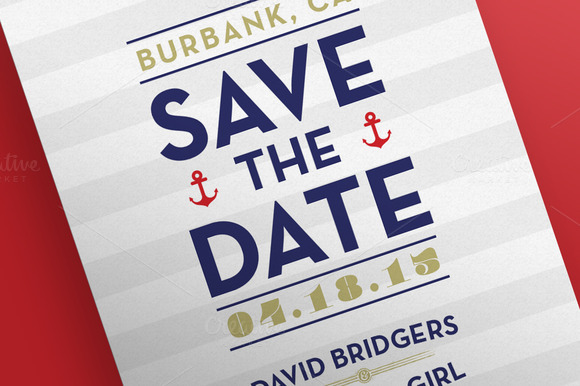 Save The Date Nautical Postcards