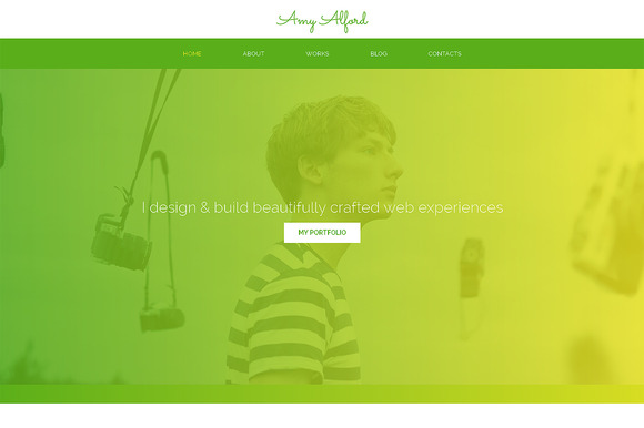 Amy Alford Responsive One Page Theme