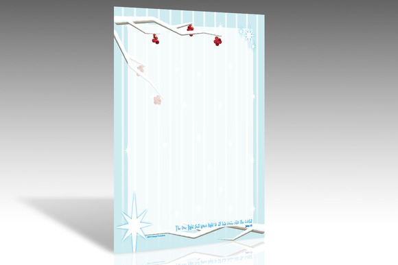 True Light Winter Berry Stationery