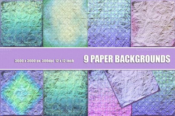 Crumpled Paper Scrapbook Backgrounds