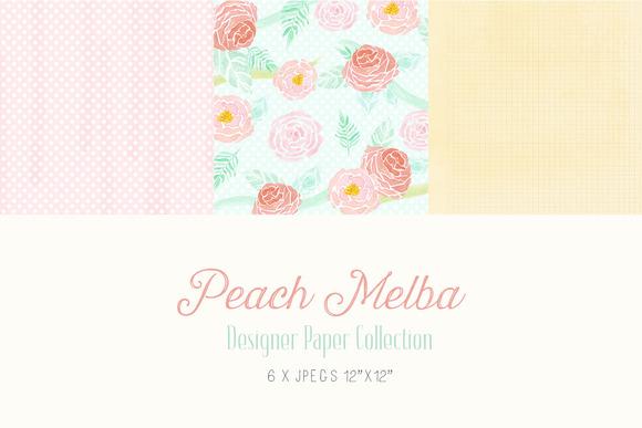Digital Designer Paper Peach Melba