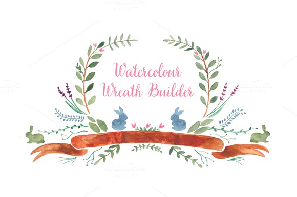 Watercolour Wreath Builder
