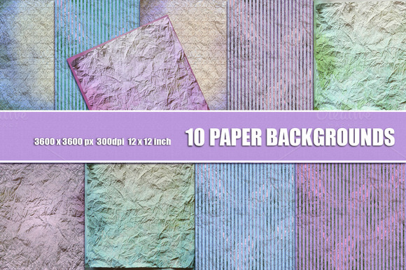 Shabby Chic Crumpled Paper Backdrop