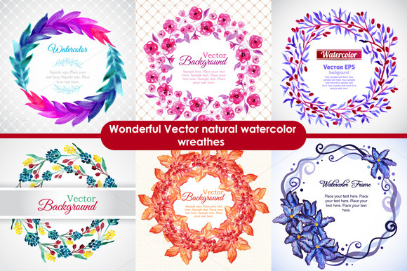 Watercolor Nature Wreathes