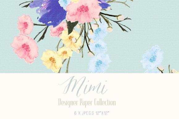 Digital Designer Paper Mimi