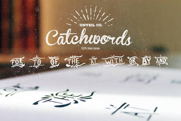 Hand-Drawn Catchwords